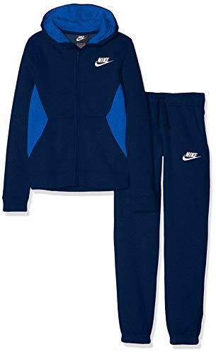 Nike B NSW TRK Suit BF Core Survêtement Garçon, Blue Void/Game Royal/White, FR : L (Taille Fabricant : L)