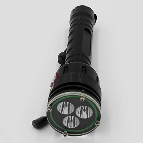 Tauchen Taschenlampe Langstrecke Wasserdicht Aufladen Taschenlampe Outdoor Camping L2 Helles Licht 2500-3000Lm Unterwasserblitz Brenner,Nobattery