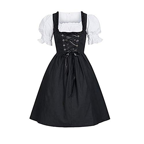 Hankyky Damen Oktoberfest Kleid Traditionelle Deutsche Dirndl Set Kleider für Bayerische Cosplay Kostüme Bier Festival Party S-4XL