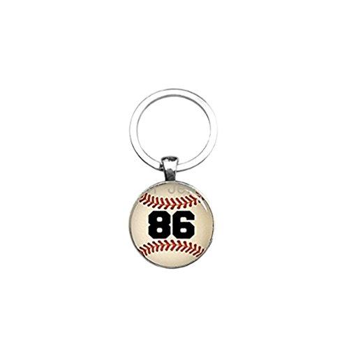 Nr. 86Baseball Schlüsselanhänger Baseball Player Schlüsselanhänger Schmuck