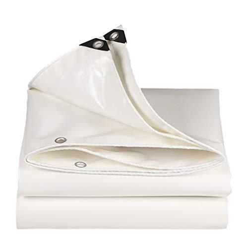 ALYR Plane für Camping, vielseitig Tarps, mit Ösen 18 Mil Dick Abdeckplanen Außenverkleidung und Campinggebrauch,White_6x4.5ft/2x1.5m -