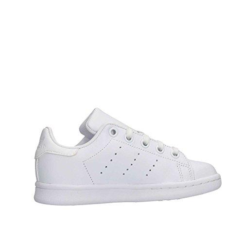 adidas Unisex-Kinder Stan Smith Sneaker Weiß (Footwear White/Footwear White/Footwear White)