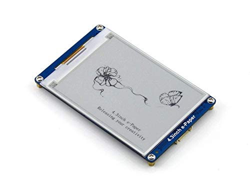 4.3inch e-Paper UART Module 800×600 Resolution Serial Interface E-Ink Display epaper Module Kit with Embedded Font Libraries Built-in 128MB NandFlash - 800 Low Power Kit