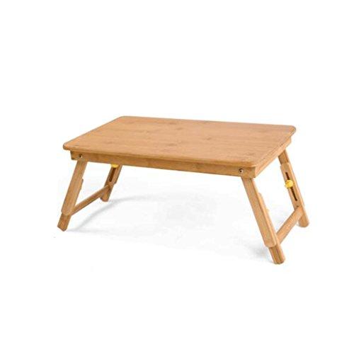 GAOLILI Bambus Faltbare Laptop Tisch Bett Mit Kleinen Tisch Schlafsaal Lazy Einfache Schreibtisch Natürliche Wild Bambus Umweltschutz Material Grünes Leben Einstellbare Anstieg Flinching ( größe : 35*55*28cm ) (- Anstiegs Einstellbare)