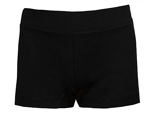 Brody & Co. Mädchen Short, Einfarbig schwarz schwarz Gr. 8-9 Jahre, schwarz