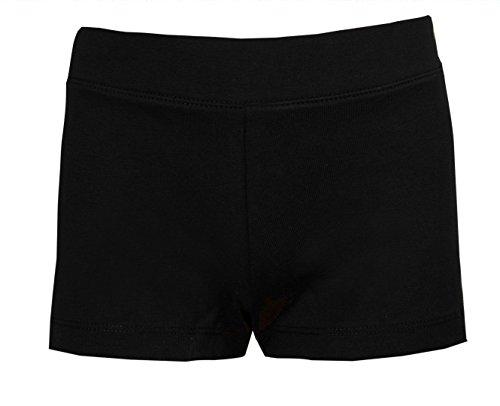 Shorts für Mädchen in Schwarz fürs Tanzen, Training, Radfahren, usw. Gr. 13 Jahre, Schwarz