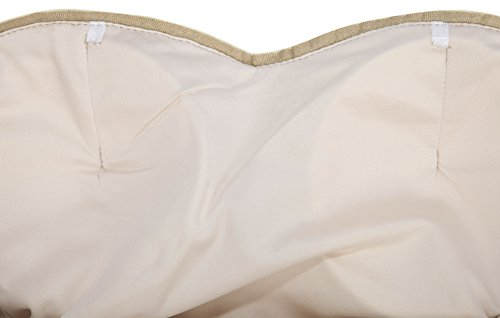Angel-fashions Damen Paillette Tragerlos Schatz Gitter Schnuren Bankett-Kleid XXLarge Gold - 5