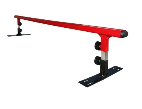 Freshpark Grind Rail Module de skateboard Noir/Rouge