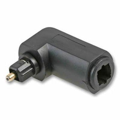 Cable-Tex - Connettore a 90 gradi per cavo ottico audio TOSlink