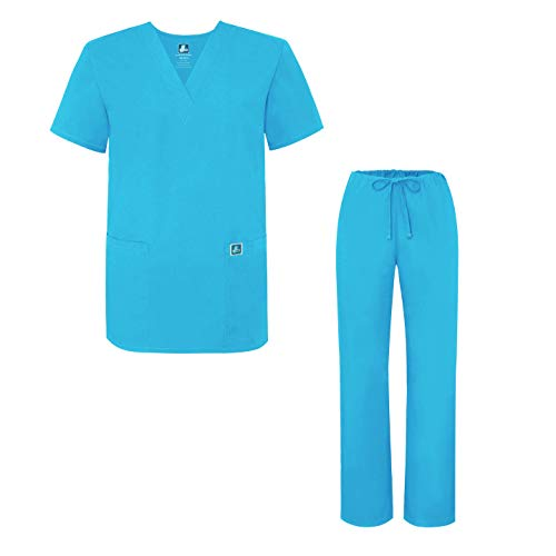 Unisex-Schrubb-Set - Medizinische Uniform mit Oberteil und Hose 701 Color Trq | Talla: L