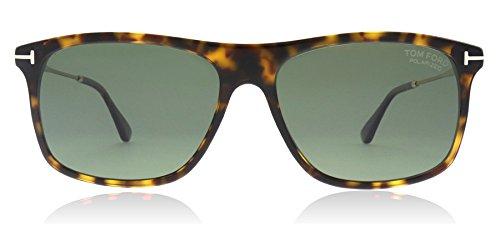 Tom Ford Unisex-Erwachsene FT0588 52R 57 Sonnenbrille, Braun (Avana Scura/Verde Polar)