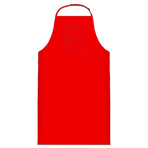 Santa Claus Illustration Cooking Apron by
