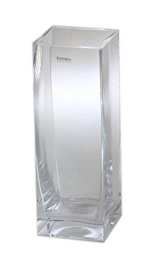 Kaheku Vase Corner Glas eckig klar Glasvase 11 x 11 x 31 cm