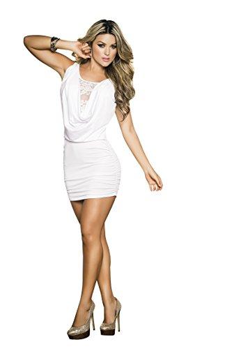 (TG. M)  Espiral 4249 Dress Colore Bianco Taglia M