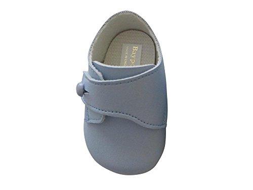 Taufschuhe Baby Schuhe Leder Sandalen Taufe Hochzeit Junge Mädchen hellblau (6-12 Monate, hellblau) (In Kleine Anzügen Jungen)