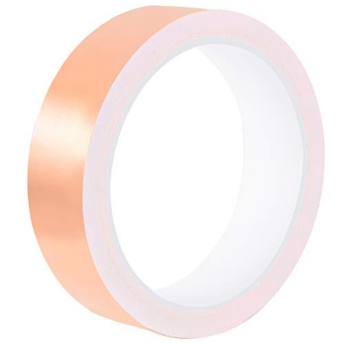 Cinta de lámina de cobre de 10 mx 25 mm con adhesivo...