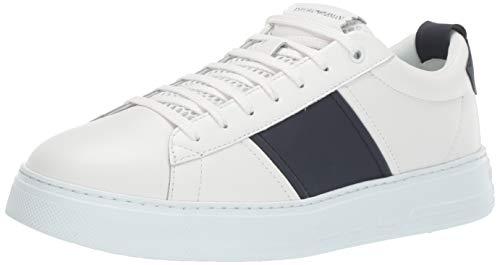 EMPORIO ARMANI X4X287-XM096-A838 Zapatillas Moda Hombres Blanco - 44 - Zapatillas Bajas