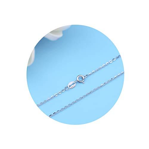 KnBoB S925 1.3MM DaHerren Kette Halskette Silber Oval Zügel Kette Silber Halskette Kette DaHerren Halskette Länge 45CM