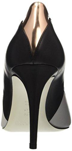 Pollini Pc85, Escarpins Femme Multicolore (White Calf-Black Calf-Quartz Lamè Calf)
