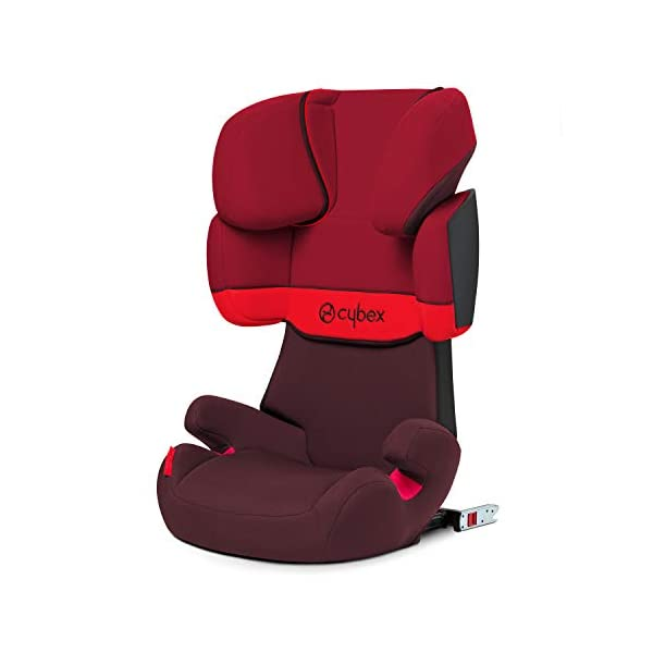 CYBEX Silver Solution X-Fix Child's Car Seat, For Cars with and without ISOFIX, Group 2/3 (15-36 kg), From approx. 3 to approx. 12 years, Rumba Red Cybex Sturdy and high-quality child car seat for long-term use - For children aged approx. 3 to approx. 12 years (15-36 kg), Suitable for cars with and without ISOFIX Maximum safety - 3-way adjustable reclining headrest, Built-in side impact protection (L.S.P. System) 11-way adjustable, comfortable headrest, Adjustable backrest, Comfortable seat cushion 1