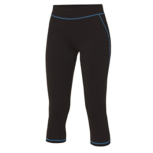 AWDis -  Leggings  - Donna Jet Black/ Sapphire Blue Large