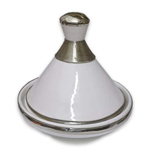 "Marokkanische tajine""Ziertagine"" weiß 14cm | Tagine aus Keramik handbemalt | Deko Tajine orientalisch"