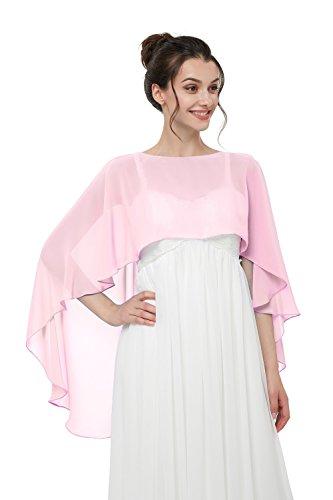 TBdresses Chiffon Braut Hochzeit Capes Wraps Frauen Abendkleid Stola Brautjungfer Schals Braut Wrape (Einheitsgröße, ()