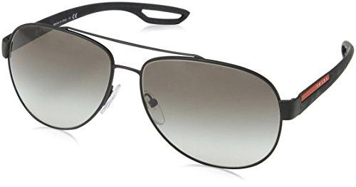 Prada Sport Herren Mod.55QS Sonnenbrille, Schwarz (Black rubber/Grey gradient), Gr. 62 mm