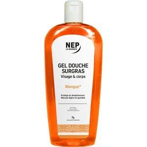 NEP Gel douche surgras visage et corps mangue 500ml lot de 2
