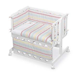 pirulos 24911630-vestidura bébé Co-Dodo Motif espin, coton, Drap, Couleur Blanc et Lin