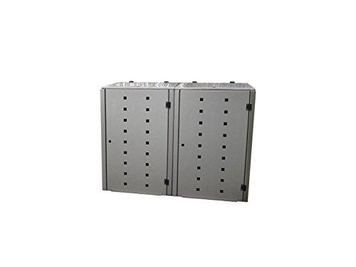 Mülltonnenbox Edelstahl, Modell Eleganza Quad8, 240 Liter als Zweierbox