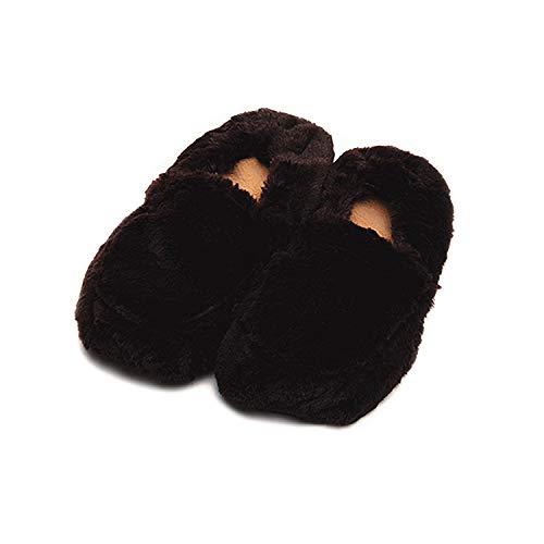 Warmies Cozy Plüsch braun beheizbar Hausschuhe Größe 3-7