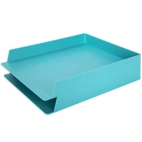 WJYLM Archiviazione di File, Vaschetta portacorrispondenza, Vaschette Portadocumenti per Ufficio,A4, Colori Assortiti,plastica,Confezione da 2,Blu