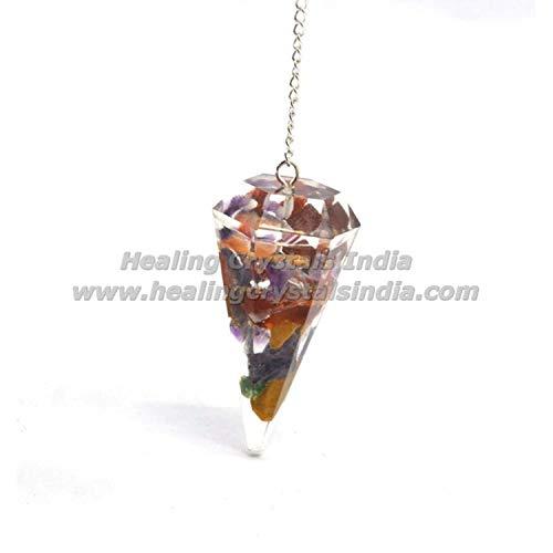 Indian Handicrafts Export Natural Gemstone Red Jasper Orgone Dowsing  Pendulum