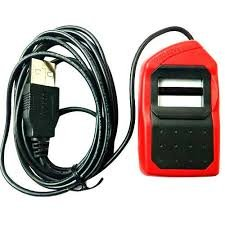 Safran Morpho Icons MSO 1300 E3 Biometric Fingerprint Scanner with RD Service (Red and Black, 6.5 x 3.5 x 1.5 cm)