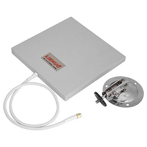GOTOTOP Panneau Directionnel WiFi, WiFi Antenna Flat Panel 2.4 Ghz 14 DBI High Gain WiFi Extender Directional Long Range Intérieur/Extérieur, Etanche