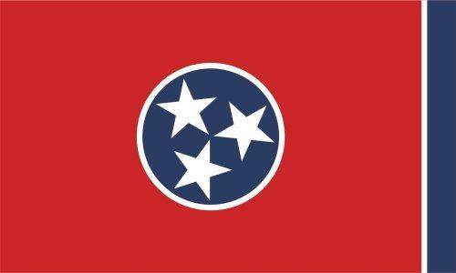 KIWISTAR Aufkleber - Tennessee Nashville - Bundesstaat USA Autoaufkleber Sticker State Flagge