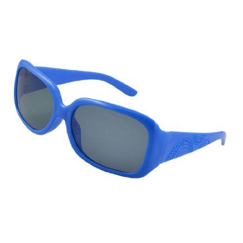 Dark Blue Rim (Dark Blue Single Bruggen Plastic Rim Gekleurde lens zonnebril voor kinderen)