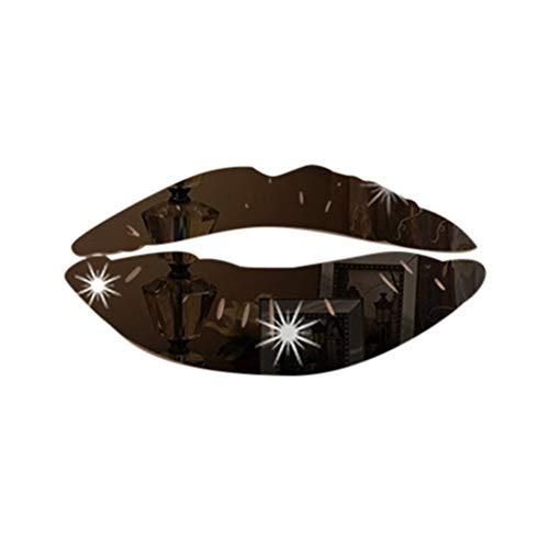 SYQH Abnehmbare Lippen Spiegel wandaufkleber Aufkleber Kunst PVC Hause raumdekoration DIY Spiegel wandaufkleber Aufkleber,C5