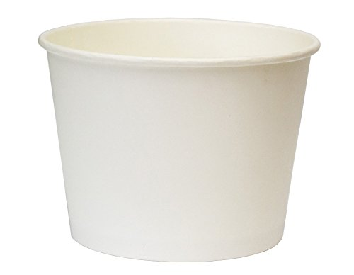Pack&Cup Bio Salatbecher (Food-Container, Snack-Box) Plain White 750 ml. 400 St.