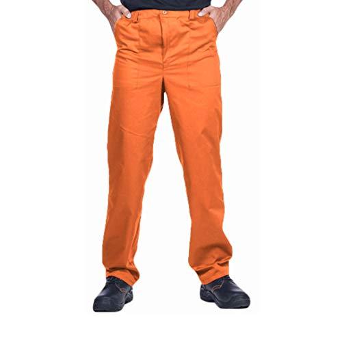 ProWear Herren Arbeitshose, Bundhose, Größen S-XXXL,Arbeitskleidung (M, Orange)