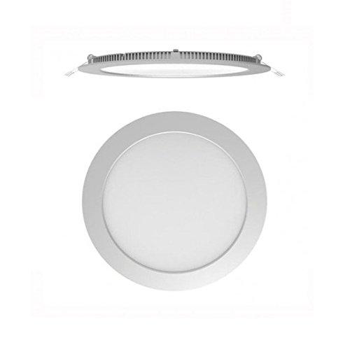 Secom 4296085284-Foco aircom Micro LED circular 8W 4000° K 920LM IP44-empotrado-cromo mate
