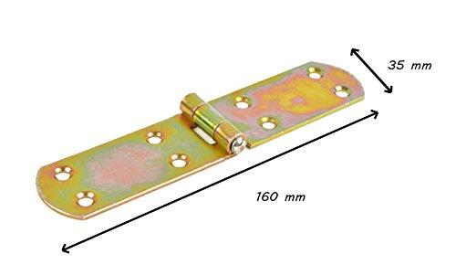 Kistenband Roher Stahl, galvanisch gelb verzinkt