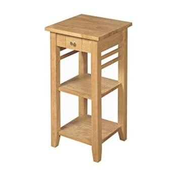 Oak Finish Solid Wood Telephone Table   Hard wood Lamp Table 1 Drawer   Oak  Finish. Oak Finish Solid Wood Telephone Table   Hard wood Lamp Table 1
