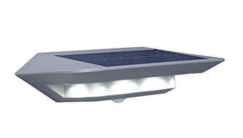 Eco-Light Außenwandleuchte Ghost Solar mit Solar Panel, inklusive Bewegungsmelder, Voll Dreh und schwenkbar. 2, 4 Watt Lichtleitung zur einfachen Montage an Ihrer Hauswand. Energiesparend und Robust Watt-solar-panel