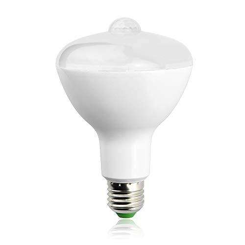 Luxvista LED Sensor BR30 E26 Sockel Bewegungsmelder 12W Warmweiß 3000K Auto Ein/Ausschalten 180Grad Abstrahlwinkel zur Dämmerung Birne für Innen- / Beleuchtung in Flur/Garage(1Stück)