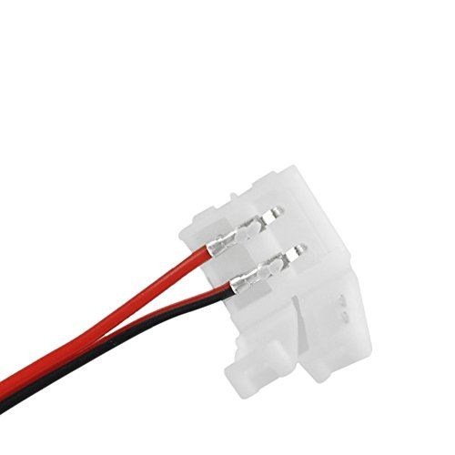 favo lcano 10 x 2 Pin Conexión Cable conector conector rápido 8 mm Para 3528 tira LED Single color