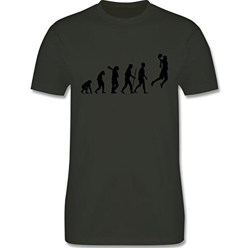 Evolution - Basketball Evolution - Herren Premium T-Shirt Army Grün