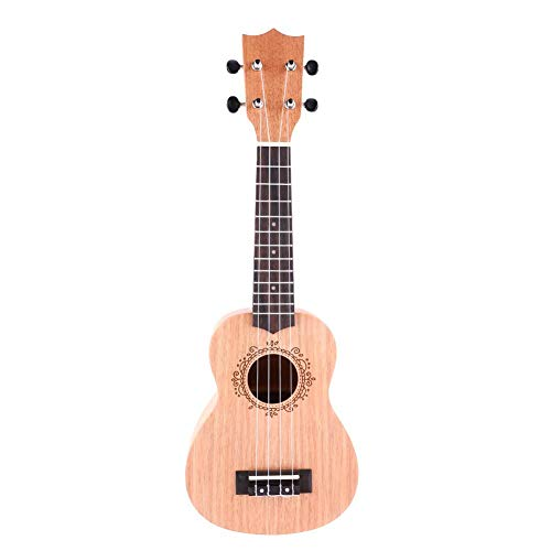 Fafeims Ukulele, U1 21-Zoll-Mahagoni Classic Style Ukulele Holz 4 String Hawaii Gitarre Musikinstrument