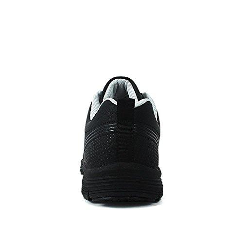 Calzature sportive Scarpe da trekking Scarpe da uomo Scarpe da corsa Ultralight Suole morbide Assorbimento degli urti traspirante Mantieni caldo Usura antiscivolo Nero